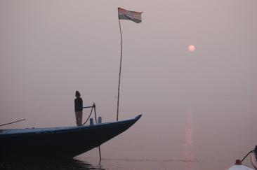 Boater on the Ganges
